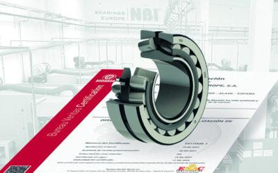 NBI Bearings Europe consigue la certificación ISO 9001:2015 en su planta de Oquendo