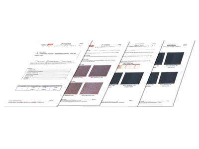 material sample test report nbi